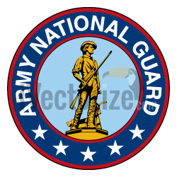 Image to vector Army National Guard logo