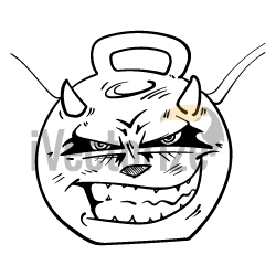 Sketch angry face
